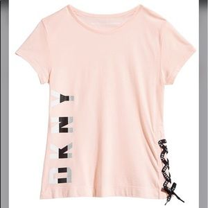 Big Girls Lace-Up Graphic Tee Print T-shirt